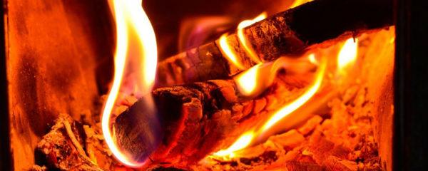 feu de cheminée à granulés